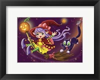 Framed Witch with a Cat