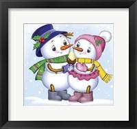 Framed Two Snowmen