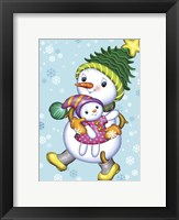 Framed Snow Girl with a Doll