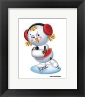 Framed Snowgirl Figure Skater