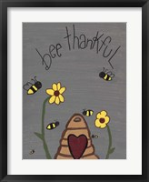 Framed Bee Thankful