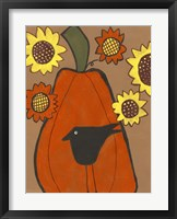 Framed Primitive Pumpkin