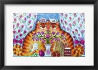 Framed Tea Cats