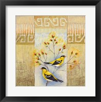 Framed Summer Goldfinches