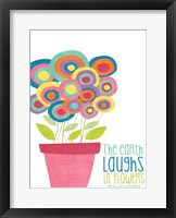 Framed Laughs in Flowers