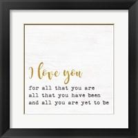 Framed I Love You 3