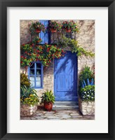 Framed Provence Blue Door