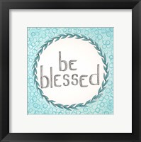 Framed Be Blessed Swirls