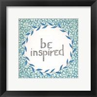 Framed Be Inspired Swirls