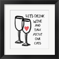 Framed Wine and Cats