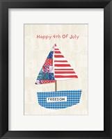 Framed 4th of July Boat