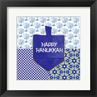 Framed Happy Hanukkah
