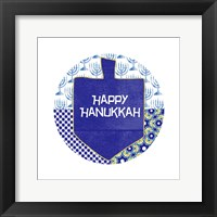 Framed Happy Hanukkah Round I