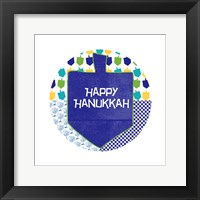 Framed Happy Hanukkah Round II