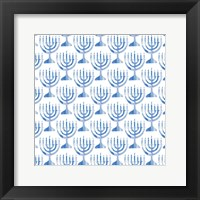 Framed Menorah Pattern