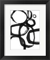 Framed Brushstroke Circles II