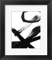 Framed BW Brush Stroke III