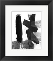 Framed BW Brush Stroke VII