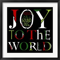 Framed Joy to the World on Black