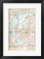 Framed Central Europe Map WWII