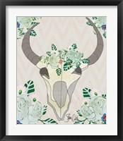 Framed Animal Skull Botanicals