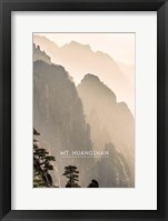 Framed Vintage Mount HuangShan, Yellow Mountains, China, Asia