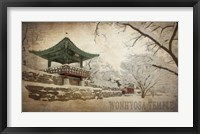 Framed Vintage Winter at Wonhyosa Temple, Korea, Asia