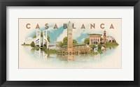 Framed Vintage Casablanca, Morocco, Africa