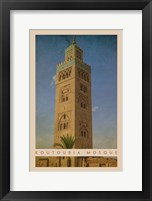 Framed Vintage Koutoubia Mosque, Marrakesh, Morocco, Africa