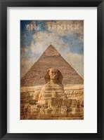 Framed Vintage Great Sphinx of Giza, Pyramids, Egypt, Africa