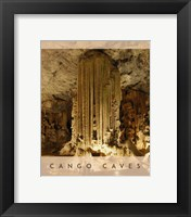 Framed Vintage Cango Caves, Oudtshoorn, South Africa, Africa