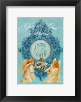 Framed Peace on Earth Angels