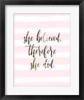 Framed She Believed
