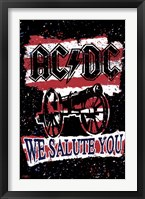Framed AC/DC - We Salute You Stripes