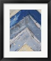 Framed Blue Zag I