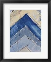 Framed Blue Zag II