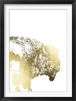 Framed Gold Foil Buffalo
