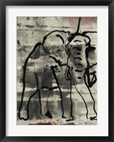 Framed Abstract Elephant I