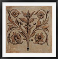 Framed Pablo Segovia - Decorative Scroll I