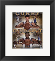 Framed Stephen Curry & Kevin Durant 2016 Portrait Plus
