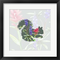 Framed Green Floral Squirrel