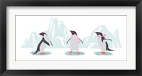 Framed Minimalist Penguin Trio, Girls