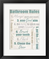 Framed Concrete Bathroom Rules