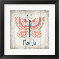 Framed Butterfly Faith
