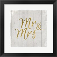 Framed Mr and Mrs