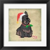 Framed Merry Scottie