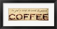 Framed Coffee Love