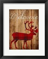 Framed Holiday Deer 2