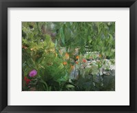 Framed Monets Pond At Giverny