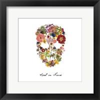 Framed Flowerskull 2
